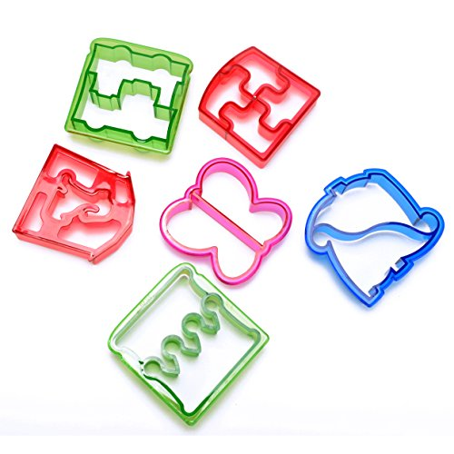Fengirl 6PCS DIY sandwich / bread mold, give the child a fun breakfast (Crustless Sandwich Cutter compare prices)