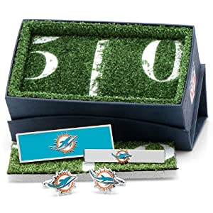 Miami Dolphins 3-Piece Gift Set by Cufflinks
