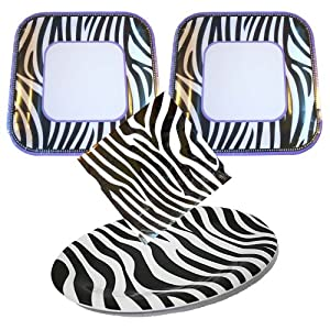 Animal Zebra Print Party Supplies Pack for 20 guests - plates, napkins, snack platter