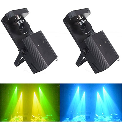 Yiscor Stage Lighting Led Spot Moving Head Light 60W Dmx512 8Gobos 8Colors + White For Xmas Christmas Birthday Home Garden Party Club Disco Effect (Pack Of 2)