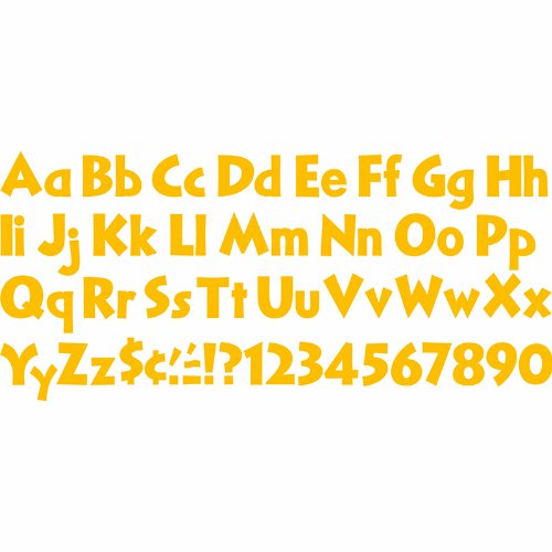"Trend Enterprises Venture Uppercase/Lowercase Combo Pack, 4"", Gold (T-79295) - 1"