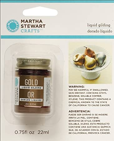 Martha Stewart 32214 0.75-Ounce Liquid Gilding, Gold