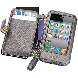 GRIFFIN GB01715 IPHONE 4 ELAN PLATINUM LEATHER PASSPORT WALLET-GFNGB01715