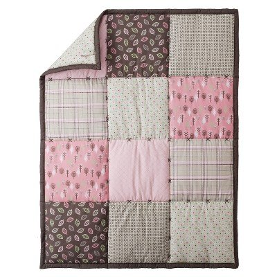 Eddie Bauer Bunny & Leaves 3pc Crib Bedding Set - 1
