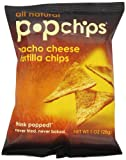 Popchips Tortilla Chips, Nacho Cheese, 1-Ounce (Pack of 24)