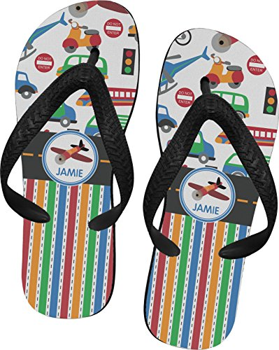 Transportation & Stripes Flip Flops - Small front-632909
