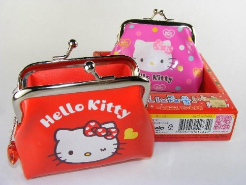 Hello Kitty Small Purse or Coin Purse (Gift Box), a Set of 2 Purses, Collectable, Randomly Picked форма с а приг покр круглая d 26 983178