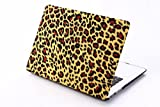 [Free Keyboard Cover] JGOO 15-Inch High Quality Rubberized Frosted Hardshell Spots Leopard Design Case Cover for Apple MacBook Pro 15.4
