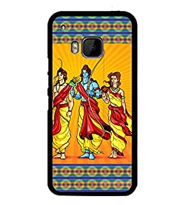 Fuson Premium 2D Back Case Cover Lord Rama With Brown Background Degined For HTC One M9::HTC M9::HTC One Hima