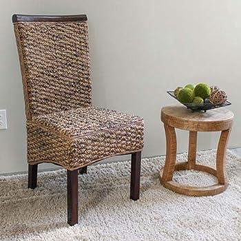 International Caravan SG-3310-2CH-IC Furniture Piece Bunga Hyacinth Dining Chair (Set of 2)