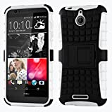 Cruzerlite Spi Force Dual Layer Cover Case for HTC Desire 510 - White (Retail Packaging)