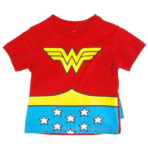 Wonder Woman Toddler Cape Tee (2T) (Small Wonders Baby Clothes compare prices)