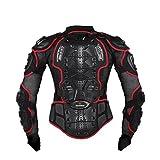 Herren Motorrad Schutz Schutzbekleidung Jacke Wache Biker Motocross Getriebe Schwarz Größe