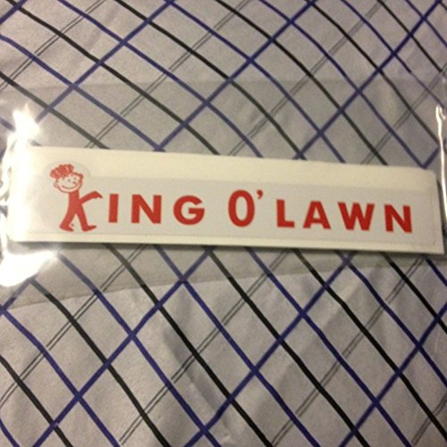King O`Lawn Vintage Lawn Mower Decal For Reel Mowers .#GG4346 43ETR98-Y291629