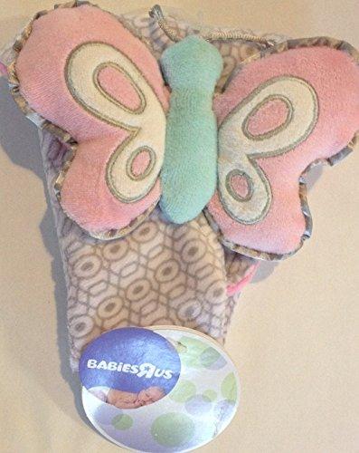 Babies R Us Pink Butterfly Lovey Blankie - 1