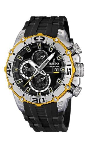 Festina 16601/2 - Reloj cronógrafo de cuarzo para hombre con correa de plástico, color negro