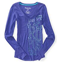 Aeropostale Juniors Glitter Graphic T-Shirt 562 M
