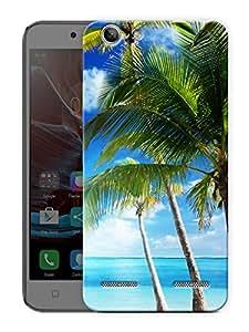 "Beach Coconut Trees Printed Designer Mobile Back Cover For ""Lenovo Vibe K5 - K5 Plus"" By Humor Gang (3D, Matte Finish, Premium Quality, Protective Snap On Slim Hard Phone Case, Multi Color)"
