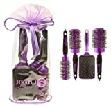 Head Jog 4 Piece Ceramic & Ionic Purple Brush Gift Set