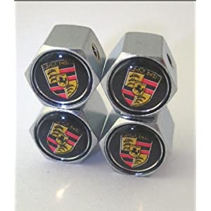 Porsche Anti-theft Car Wheel Tire Valve Stem Caps