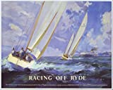 Vintage Poster Shop British Railways Racing Off Ryde Isle of Wight Railway Poster A3 Print