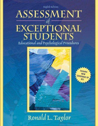 Assessment of Exceptional Students (8th Edition)