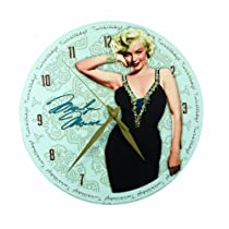 Vandor 70389 Decoupage Wall Clock, Marilyn Monroe, 13-1/2-Inch