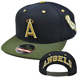 MLB American Needle Blockhead Earthtone Wool Cap Hat Snapback Los Angeles Angels by American Needle