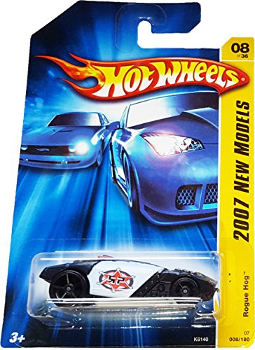Mattel Hot Wheels 2007 New Models 1:64 Scale Black Rogue Hog - 1