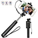 Selfie Stick,D6,Luxury Design BEST Quality Universal Wired[Battery Free]Extendable Handled Stick With Adjustable...