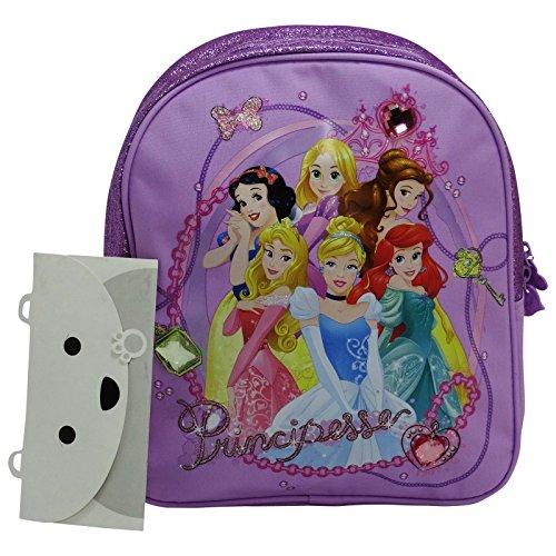 Disney Principesse Ariel Biancaneve Rapunzel Belle Aurora Cenerentola Zaino Asilo