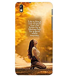 ColourCraft Quotes Back Case Cover for HTC DESIRE 816