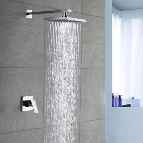 Lightinthebox Chrome Wall Mount Bathroom Bath Mixer Taps Fixed Rainfall Shower Head Single Handle Shower Faucet Chrome Lavatory Fixed Single Handle Shower Faucet Fixed Shower Head with Shower Arm (Wall Mount Mixer compare prices)