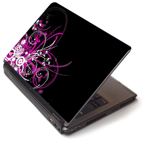 "Pink pizzazz 2 - Toshiba Lapjacks skin to fit 15"" Laptops"
