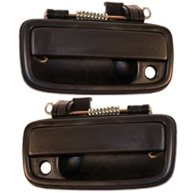 1995-2004 Toyota Tacoma Pickup Truck Front Outside Outer Exterior Black Door Handle Pair Set Left Driver AND Right Passenger Side (1995 95 1996 96 1997 97 1998 98 1999 99 2000 00 2001 01 2002 02 2003 03 2004 04)