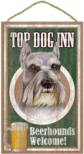 fathers-day-gift-schnauzer-10x15-wood-plaque-top-dog-inn-beer-hounds-welcome-sign