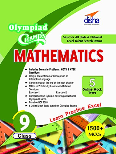 Olympiad Champs Mathematics - Class 9 with 5 Mock Online Olympiad Tests