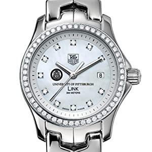University of Pittsburgh TAG Heuer Watch - Women's Link with Diamond