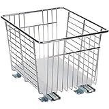 Household Essentials Glidez Sliding Chrome Veggie Bin Cabinet Organizer, 13-Inch Wide