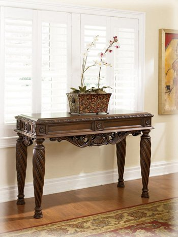 North Shore Dark Brown Sofa Table