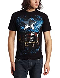 Mad Engine Men's The American Way T-Shirt, Black, X-Large