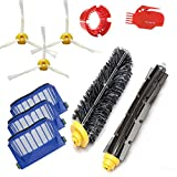 accessory for irobot roomba 600 610 620 650 series vacuum cleaner replacement part kit includes 3 pack filter side brush and 1 pack bristle brush and flexible beater brush 1 pack cleaning tool