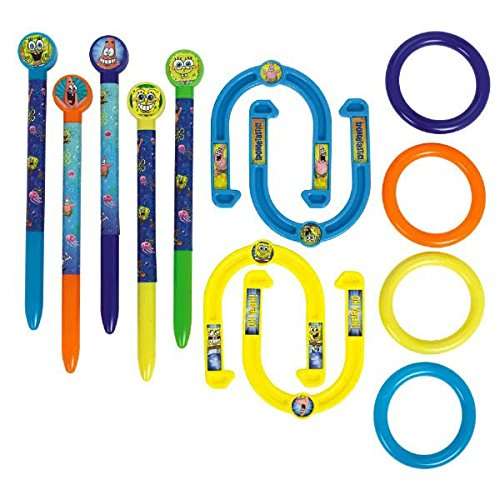 Amscan-Water-Rific-SpongeBob-Ring-Toss-Horseshoes-Combo-Birthday-Party-Game-Set-Multi