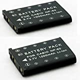 Henweit New Lithium-Ion Battery 1000 mAh for Olympus Li-42B Li-40B Nikon EN-EL10 Casio NP-80 Pentax D-LI63