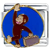Pugster Curious George Travel Animal Disney Monkey Licensed Italian Charms Bracelet Link