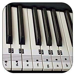 Eloquent image throughout piano key stickers printable