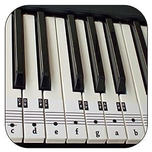 Simplicity image with regard to piano key stickers printable