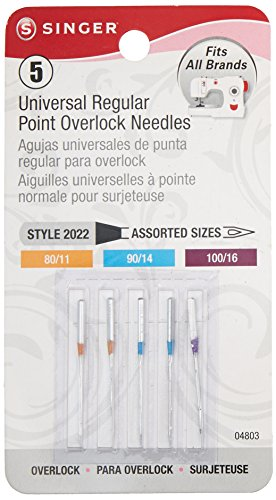 Universal Regular Point Overlock Needles-5/Pkg (Sergers Singer compare prices)