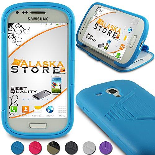 Alaskaprint- TPU Touch Handy Case Blau für Samsung Galaxy S3 Mini i8190 i8192 i8195 G7 , attraktive Rückschale, Backcover