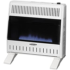 Sure Heat WGSH30BFLP Sure Heat 30,000 BTU Blue Flame Gas Space Heater with Thermostat and Blower, Liquid Propane